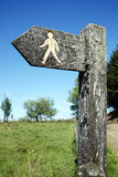 Footpath arrow signpost Royalty Free Stock Images