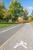 Footpath in autumn park Stock Image