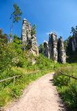 Footpath in bohemian paradise Stock Photography
