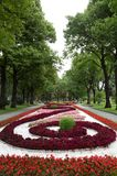 Footpath in a botanical garden,moscow,russia Royalty Free Stock Photos