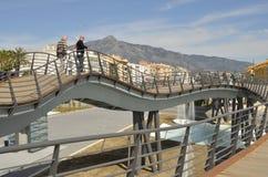 Footpath bridge Stock Images