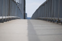 A footpath on a bridge. To New Jersey Royalty Free Stock Photo