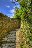 Footpath in Cinque Terre National Park. Beautiful hiking footpath connecting the traditional villages from Cinque Terre National Park on the Italian Riviera Stock Photography
