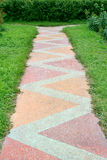 Footpath from color tile Stock Photography