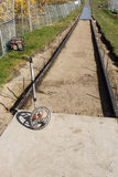 Footpath  construction - Concrete work Stock Photos
