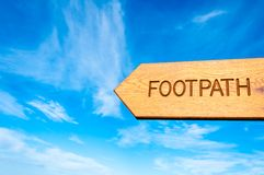 Footpath direction sign Royalty Free Stock Image