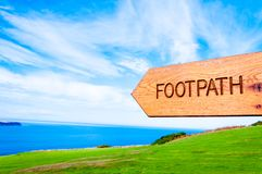 Footpath direction sign Stock Photography