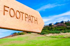 Footpath direction sign Royalty Free Stock Photo