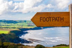 Footpath direction sign Royalty Free Stock Photography