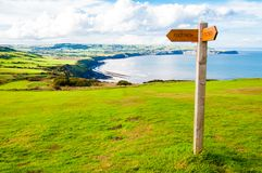 Footpath direction sign Royalty Free Stock Photos