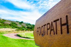Footpath direction sign Stock Photo