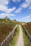 Footpath through the dunes of Sylt Stock Photography