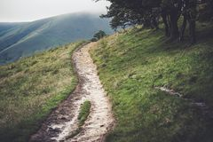 The footpath from Edale to Kinder Scout in the Peak District Stock Images