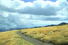 Footpath In Etna National Park, Sicily stock photography