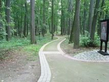 Footpath in the forest near Big Castle in Tsaritsyno Park Stock Images