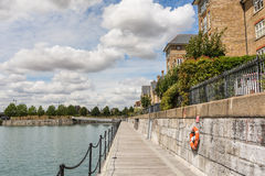 Footpath in front of terrace houses in Kent Royalty Free Stock Image