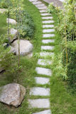 Footpath in the garden Royalty Free Stock Images