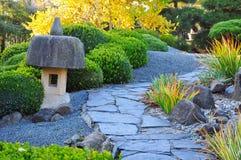 Footpath garden Stock Photo