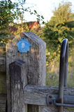 Footpath gate on the South Downs Way. Royalty Free Stock Photography
