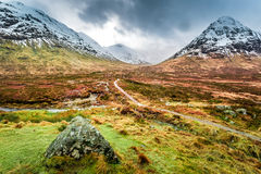 Footpath in Glencoe mountains Royalty Free Stock Photos