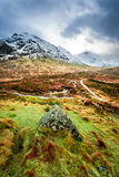 Footpath in Glencoe mountains Stock Images