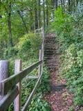 Footpath i ławka w jesień parku w Loire obraz royalty free