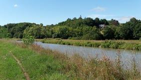 Footpath i banki kanał Briare Fotografia Royalty Free