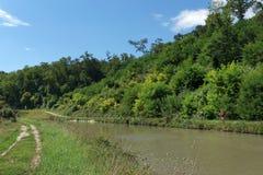Footpath i banki kanał Briare Zdjęcie Stock