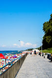 Footpath i plaża Zdjęcia Royalty Free