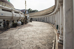 Footpath inside Phra Pathom Chedi, Stock Photo