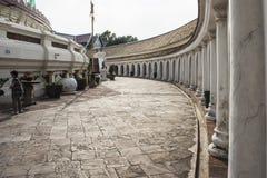 Footpath inside Phra Pathom Chedi,. The landmark of Nakhon Pathom Province,Thailand Stock Photo
