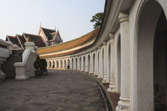 Footpath inside Phra Pathom Chedi, wat Royalty Free Stock Photo