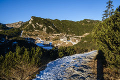 Footpath in the Komna. Mountain plateau, Julian Alps Stock Photography