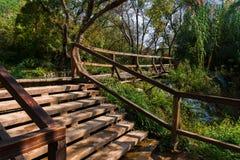 Footpath in Krka national park Stock Photos