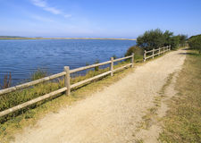 Footpath on the lake Stock Photography