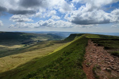 The plateau near Pen y Fan and Corn Du in the Brecon Beacons Royalty Free Stock Images