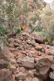 Footpath leading to the Waterberg Mountain Plateau near Otjiwaro Stock Image