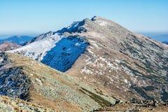 Footpath leading up the peak Dumbier, Low Tatras, Slovak republic. Hiking theme. Mountains scene stock images