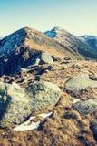 Footpath leading up the peak Dumbier, Low Tatras, Slovak republi Stock Image