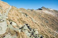 Footpath leading up the peak Dumbier, Low Tatras, Slovakia, hiki Stock Photo