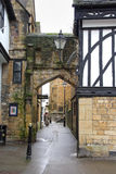 Footpath in a Medieval English Town Royalty Free Stock Image