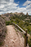Footpath on the Montserrat Mountain in Spain Royalty Free Stock Photos