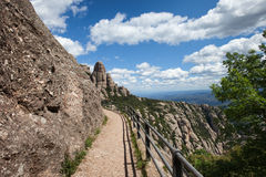 Footpath in the Montserrat Mountains Stock Photography