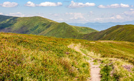 Footpath through the mountain ridge Stock Image