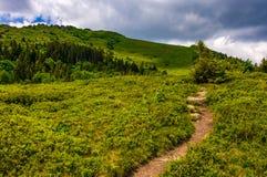 Footpath through the mountain ridge Stock Photo