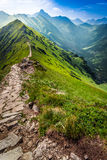 Footpath in the mountains in Poland Stock Photos
