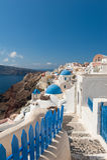 Footpath in Oia Santorini Greece Stock Image