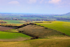 Footpath over South Downs Stock Image