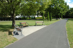 Footpath in park Stock Photography