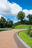 Footpath. A path in a Park on a Sunny day Royalty Free Stock Photos